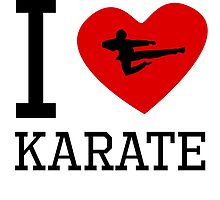 I Heart Karate by kwg2200