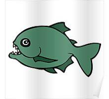 piranha poisson fish Poster