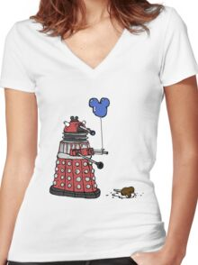 Sympathy of the Daleks Women's Fitted V-Neck T-Shirt