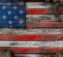 American Wood Flag Sticker