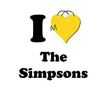 I Love the Simpsons Photographic Print