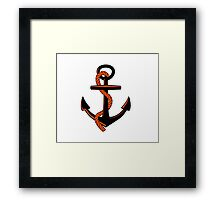 Anchor with rope Framed Print