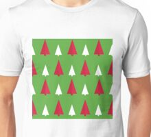 red, white, green, pattern tree Unisex T-Shirt