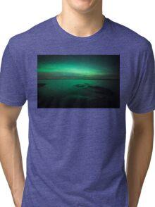 Mystic northern lights glow Tri-blend T-Shirt