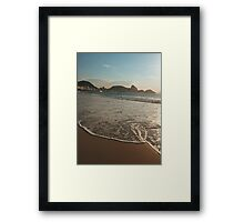 Copacabana Beach Ocean Shore  Framed Print