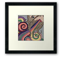 inside out and upside down Framed Print
