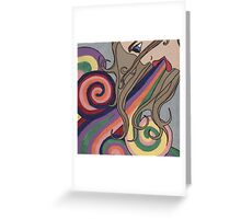 inside out and upside down Greeting Card