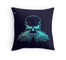 Neon Skull Hipster Skeleton Graphic T-Shirt by Cyrca Originals Throw Pillow