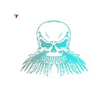 Neon Skull Hipster Skeleton Graphic T-Shirt by Cyrca Originals Photographic Print