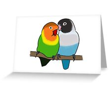 Snuggly Lovebirds Greeting Card