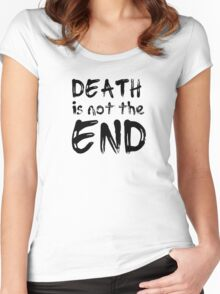 death is not the end rock spiritual inspirational motivational lyrics quotes bob dylan hippie quotes Women's Fitted Scoop T-Shirt