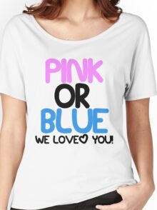Pink or Blue Baby Gender Reveal Women's Relaxed Fit T-Shirt