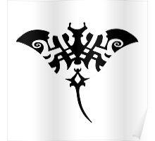 manta ray raie tattoo tribal Poster