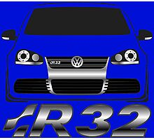 MKV Golf R32 Front Photographic Print
