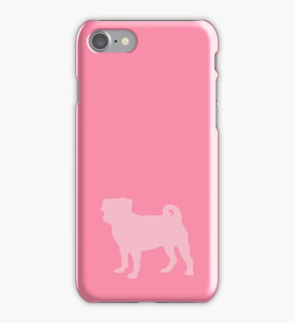 Pastel Pink Pug iPhone Case/Skin