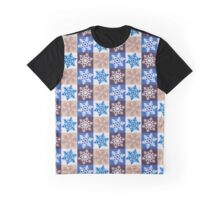 Chequered Snowflake #4 Graphic T-Shirt