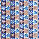 Chequered Snowflake #4 by Paul James Farr