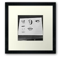 Facial Features Pen and ink art Framed Print
