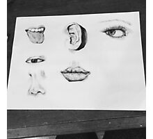 Facial Features Pen and ink art Photographic Print