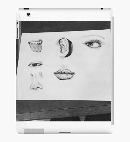 Facial Features Pen and ink art iPad Case/Skin