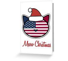 Meow Christmas U.S.A. Greeting Card