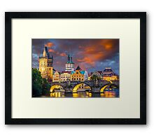 Prague Sunset Framed Print