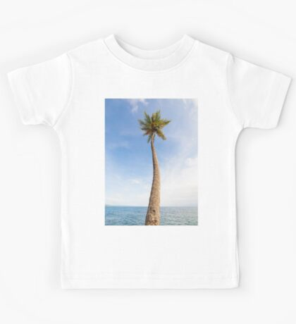 Tall palm tree against sky Kids Tee