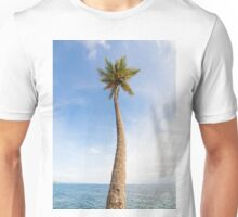 Tall palm tree against sky Unisex T-Shirt