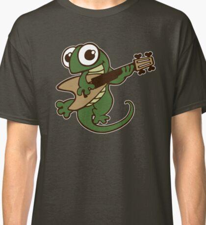 lizard lézard music cartoon fun bass guitar Classic T-Shirt