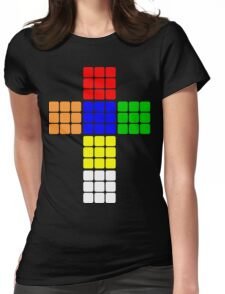 Rubik large Womens Fitted T-Shirt