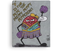 pepe the preppy peppy pepperoni Canvas Print