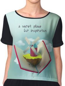 A secret place for inspiration Chiffon Top