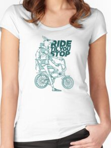 Ride or Don't Women's Fitted Scoop T-Shirt