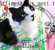 Catliness is next to Godliness [Transparent] by CiipherZer0