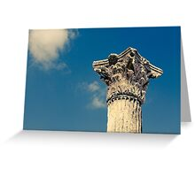 Roman Column Against a Blue Sky Greeting Card