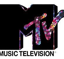 Purple Tie Dye MTV Logo by rbx11