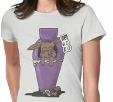 Trash bunny Womens Fitted T-Shirt