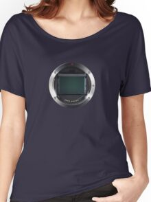Lens Mount - Attach Lens Here Women's Relaxed Fit T-Shirt