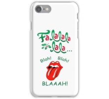 Fa_La_Blaaah! Christmas Design iPhone Case/Skin