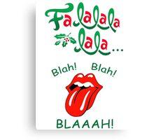 Fa_La_Blaaah! Christmas Design Canvas Print