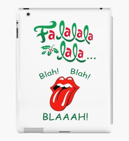 Fa_La_Blaaah! Christmas Design iPad Case/Skin