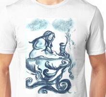 Girl thinking Unisex T-Shirt