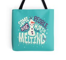 Frozen: Some People Are Worth Melting For Tote Bag