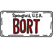 Bort Numberplate Photographic Print