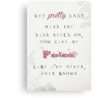 Hey Pretty Baby (Red) Canvas Print