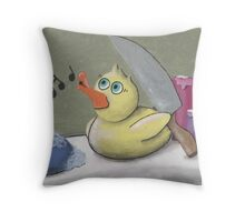Murderous Rubber Ducky Throw Pillow