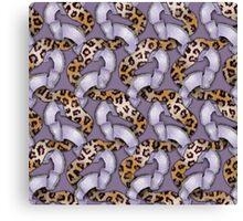 Leopards'n Lace - Purple Canvas Print