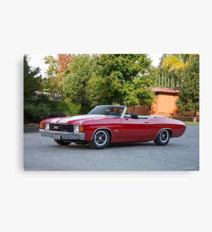 1972 Chevelle Super Sport Convertible SS454 Canvas Print