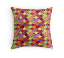 Multicolor Seamless Mermaid Pattern Throw Pillow