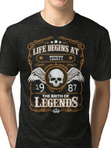 Legend Since 1987 30 Years Old Birthday Gifts T-Shirt Tri-blend T-Shirt